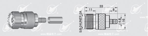 UHF socket crimp