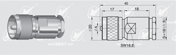 UHF Plug clamp